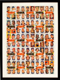 Baseball Cards:Other, 1953 Topps Baseball Uncut Sheet (Ten Strips of Ten) with Mickey Mantle & Jackie Robinson....