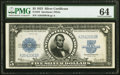 Large Size:Silver Certificates, Fr. 282 $5 1923 Silver Certificate PMG Choice Uncirculated 64.. ...