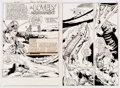 "Original Comic Art:Complete Story, Joe Staton Six Million Dollar Man #4 Complete 22-Page Story ""A Lovely Assignment"" Original Art (Charlton, 1976).... (Total: 22 Original Art)"