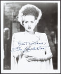 """Movie Posters:Horror, Elsa Lanchester in The Bride of Frankenstein (1980s). Very Fine/Near Mint. Autographed Restrike Photo (8"""" X 10""""). Horror. . ..."""