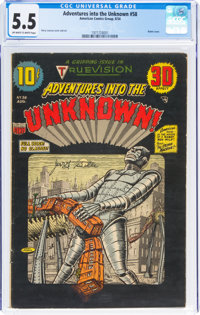 Adventures Into The Unknown #58 (ACG, 1954) CGC FN- 5.5 Off-white to white pages