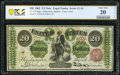 Large Size:Legal Tender Notes, Fr. 124 $20 1862 Legal Tender PCGS Banknote Very Fine 20 Details.. ...