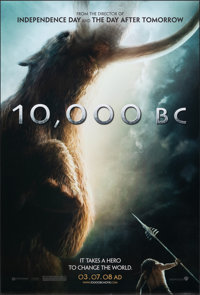 "10,000 BC & Other Lot (Warner Bros., 2008). Rolled, Overall: Very Fine. One Sheets (2) (27"" X 40"" & 26..."