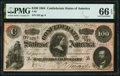 Confederate Notes:1864 Issues, T65 $100 1864 PF-3 Cr. 494 PMG Gem Uncirculated 66 EPQ.. ...