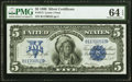 Large Size:Silver Certificates, Fr. 272 $5 1899 Silver Certificate PMG Choice Uncirculated 64 EPQ.. ...
