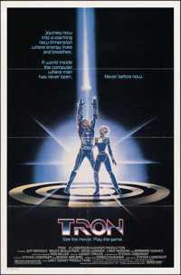 "Tron (Buena Vista, 1982). Folded, Fine/Very Fine. One Sheet (27"" X 41""). Science Fiction"