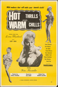 "Hot Thrills and Warm Chills (Trans Continental Artists, 1967). Folded, Fine/Very Fine. One Sheet (25.25"" X 38""..."
