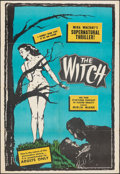 """Movie Posters:Horror, The Witch (Sonney Amusement Enterprises, 1954). Folded, Fine/Very Fine. One Sheet (28"""" X 41""""). Horror.. ..."""