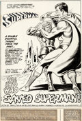 Original Comic Art:Splash Pages, Curt Swan and Murphy Anderson Superman #253 Splash Story Page 1 (DC, 1972)....