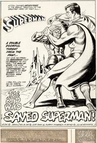 Curt Swan and Murphy Anderson Superman #253 Splash Story Page 1 (DC, 1972)