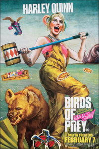 Birds of Prey: And the Fantabulous Emancipation of One Harley Quinn (Warner Bros., 2020). Rolled, Near Mint. Bus Shelter...