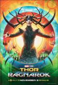 "Movie Posters:Action, Thor: Ragnarok (Walt Disney Studios, 2017). Rolled, Very Fine/Near Mint. Bus Shelter (49"" X 70"") SS Advance, Hela Style. Act..."