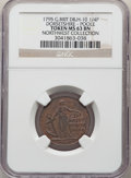Great Britain: Dorsetshire. Poole copper 1/2 Penny Token 1795 MS63 Brown NGC