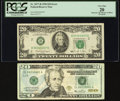 Improper Ink Mixture of Black Overprint Error Fr. 2077-B $20 1990 Federal Reserve Note. PCGS Very Fine 20; Impr