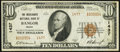 National Bank Notes:Maine, Bangor, ME - $10 1929 Ty. 2 The Merchants National Bank Ch. # 1437 Very Fine+.. ...