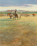 Works on Paper, Dave Powell (American, b. 1954). It's Life I'm Talkin' About Woodrow (Lonesome Dove Series). Watercolor and pencil on bo...