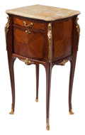 Furniture, A French Louis XV-Style Gilt Bronze Mounted Mahogany and Kingwood Nightstand with Onyx Top, circa 1900. 32 x 15 x 15 inches ...