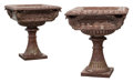 Furniture, A Pair of Italian Rouge Marble and Gilt Bronze Standing Jardinière . 36 x 32 x 32 inches (91.4 x 81.3 x 81.3 cm) (each). ... (Total: 2 Items)