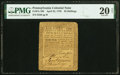 Colonial Notes:Pennsylvania, Pennsylvania April 25, 1759 20s PMG Very Fine 20 Net.. ...