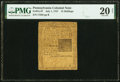 Colonial Notes:Pennsylvania, Pennsylvania July 1, 1757 15s PMG Very Fine 20 Net.. ...