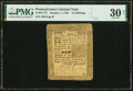 Colonial Notes:Pennsylvania, Pennsylvania January 1, 1756 15s PMG Very Fine 30 Net.. ...