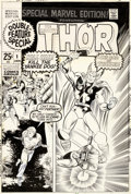 Original Comic Art:Covers, Marie Severin, Joe Sinnott, and Sam Rosen Special Marvel Edition #1 Couverture Originale (Marvel, 1971)....