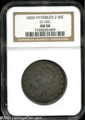 Bust Half Dollars: , 1820/19 50C Curl Base 2 AU50 NGC. O-102, R.2. The more ...