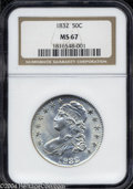 Bust Half Dollars: , 1832 50C Small Letters MS67 NGC. O-113. The obverse of O-...
