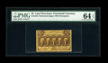 Fractional Currency:First Issue, Fr. 1279 25c First Issue PMG Choice Uncirculated 64 EPQ....