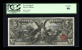 Large Size:Silver Certificates, Fr. 269 $5 1896 Silver Certificate PCGS Gem New 66....