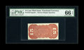 Fractional Currency:Third Issue, Fr. 1273/5SP 15c Third Issue Narrow Margin Back PMG Gem Uncirculated 66 EPQ. Milton 3S15R.1....