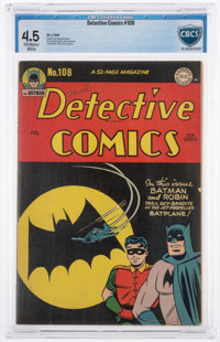 Detective Comics #108 (DC, 1946) CBCS VG+ 4.5 Off-white to white pages