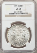 Morgan Dollars: , 1890-CC $1 MS62 NGC. NGC Census: (1577/2732). PCGS Population: (2755/6753). CDN: $525 Whsle. Bid for NGC/PCGS MS62. Mintage...