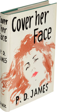 P. D. James. Cover Her Face. London: Faber and Faber, [1962]. First edition. Presentation co