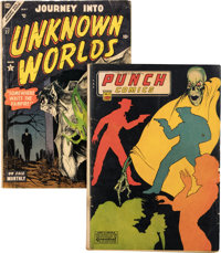 Punch Comics #11 and Journey into Unknown Worlds #27 Group (Chesler/Atlas, 1944-54) Condition: Average VG-.... (Total: 2...