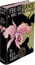 Books:Mystery & Detective Fiction, Rex Stout. Fer-De-Lance. A Nero Wolfe Mystery. New York: Farrar & Rinehart, Inc., [1934]. First edition of the f...