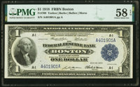 Fr. 708 $1 1918 Federal Reserve Bank Note PMG Choice About Unc 58 EPQ