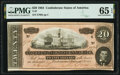 Confederate Notes:1864 Issues, T67 $20 1864 PF-11 Cr. 511 PMG Gem Uncirculated 65 EPQ.. ...