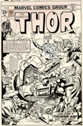 Original Comic Art:Covers, Gil Kane and Frank Giacoia Thor #242 Cover and Preliminary Original Art (Marvel, 1975).... (Total: 2 Original Art)