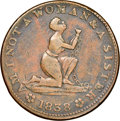 Hard Times Tokens, 1838 Am I Not a Woman & a Sister, HT-81, XF40 NGC. Copper, plain edge, 28 mm....