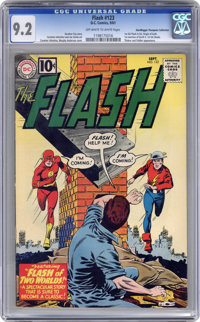 The Flash #123 - Don and Maggie Thompson (DC, 1961) CGC NM- 9.2 Off-white to white pages
