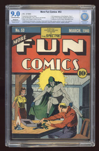More Fun Comics #53 (DC, 1940) CGC Apparent MP VF/NM 9.0 Off-white to white pages