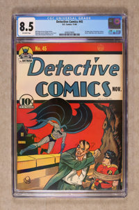 Detective Comics #45 (DC, 1940) CGC VF+ 8.5 Off-white pages