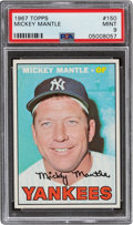Baseball Cards:Singles (1960-1969), 1967 Topps Mickey Mantle #150 PSA Mint 9 - Only Two Higher. ...