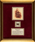 Political:3D & Other Display (pre-1896), Abraham Lincoln: Several Strands Of Hair....