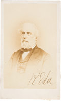 Autographs:Military Figures, Robert E. Lee: Signed Carte-de-Visite [CDV] by Brady....