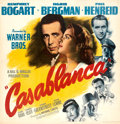 "Movie Posters:Academy Award Winners, Casablanca (Warner Bros., 1942). Very Fine on Linen. Six Sheet (79.5 X 81.5"").. ..."