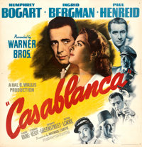 "Casablanca (Warner Bros., 1942). Very Fine on Linen. Six Sheet (79.5 X 81.5"")"