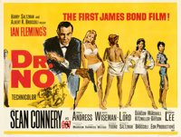"Dr. No (United Artists, 1962). Fine/Very Fine on Linen. British Quad (30"" X 40"") Mitchell Hooks Artwork"