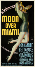 Movie Posters:Musical, Moon Over Miami (20th Century Fox, 1941). Fine+ on Linen.